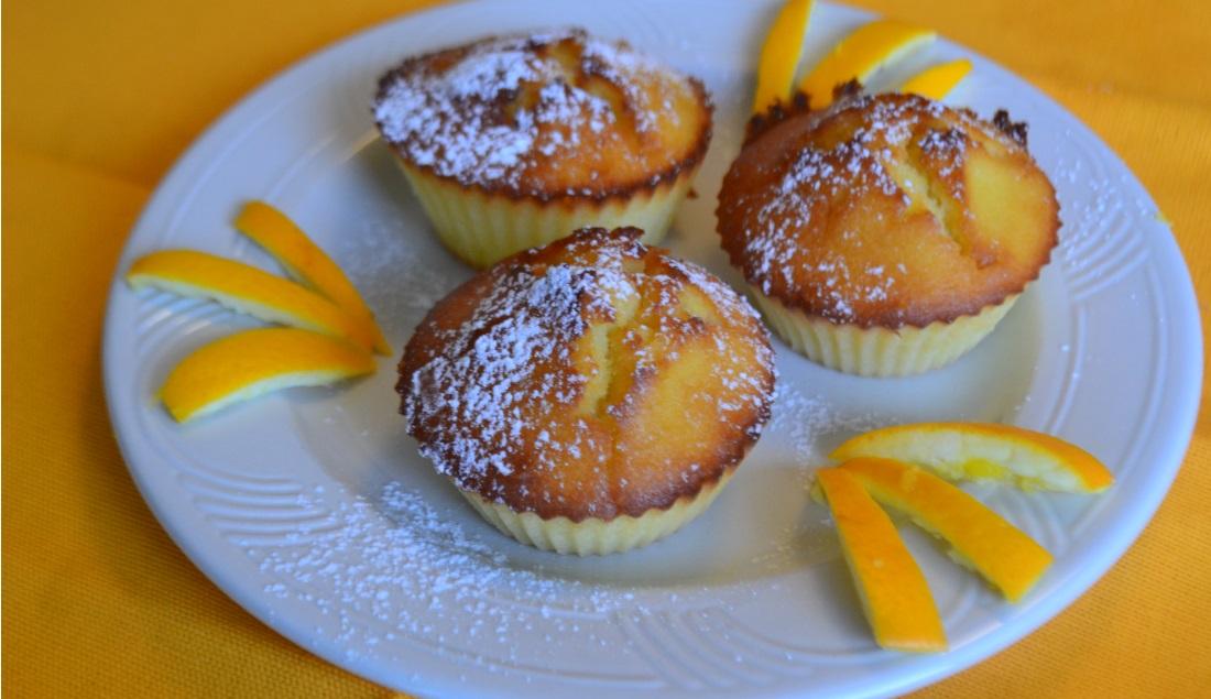 Muffin allo yogurt, arancia e zenzero