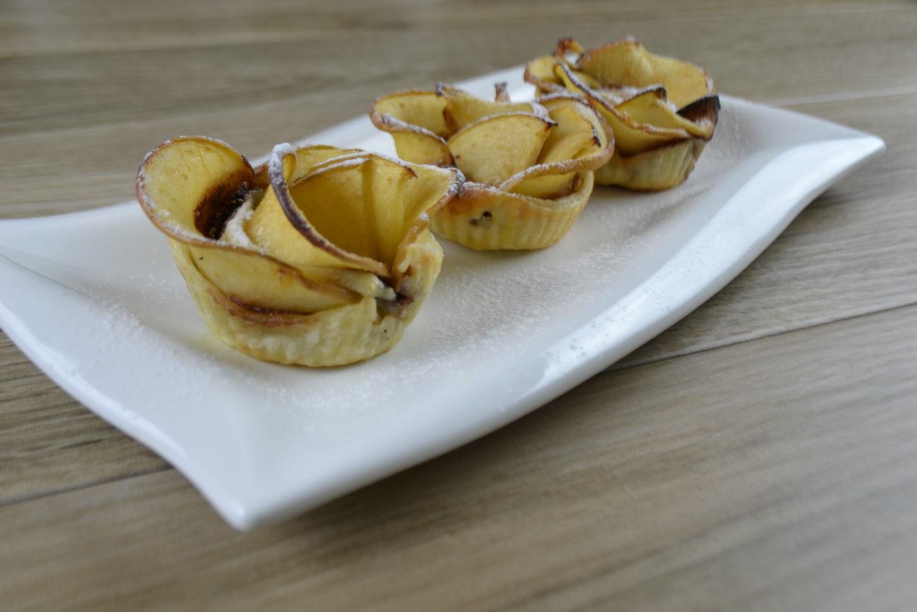Rose di mele alla crema di nocciole