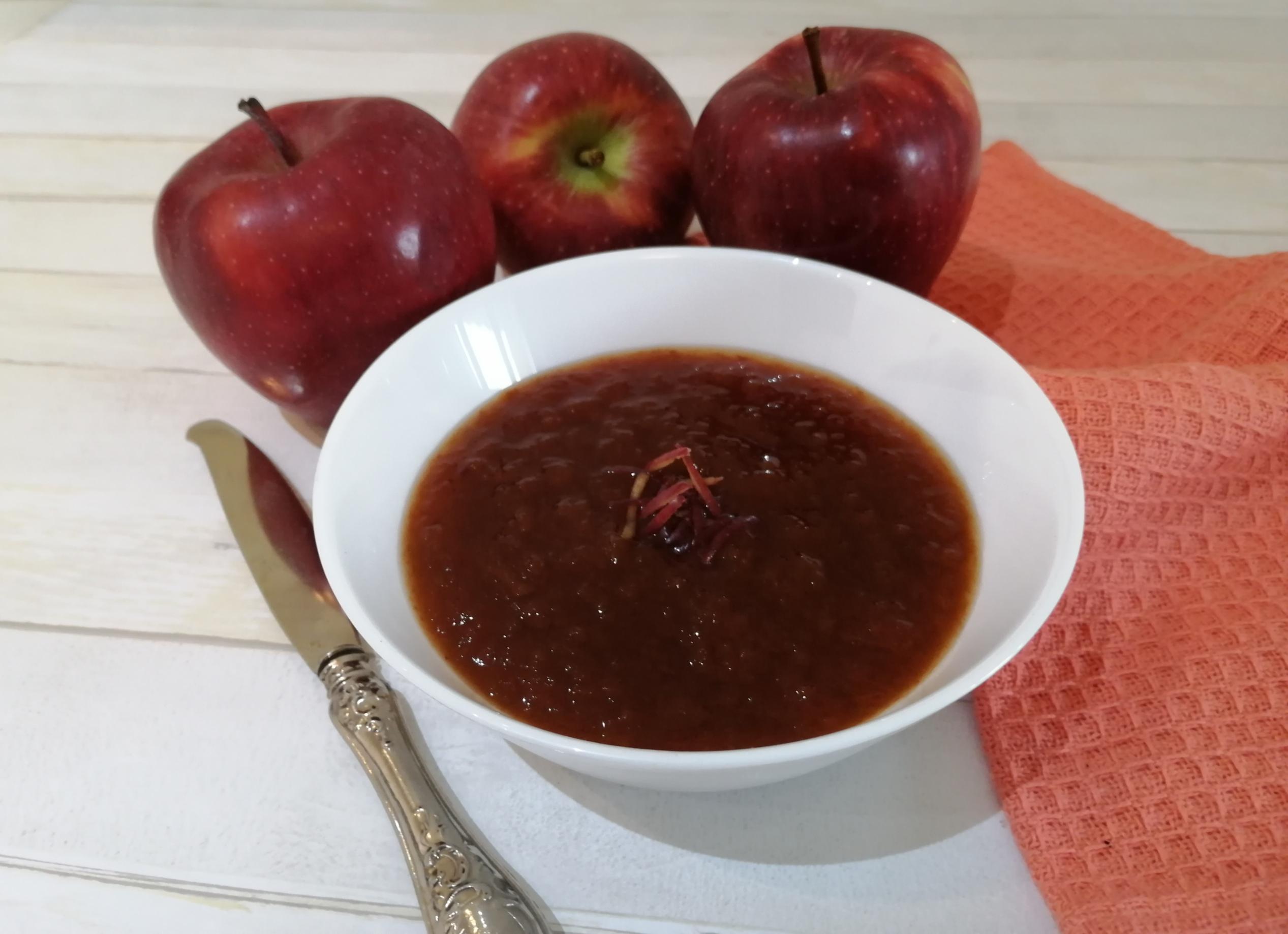Far Bollire Vasetti Marmellata marmellata di bucce di mela