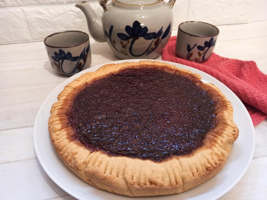 Torta svizzera di Pellegrino Artusi con confettura di fragole